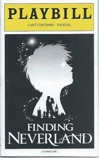 Finding Neverland Playbill, Tony Yazbeck, Kelsey Grammer,  Laura Michelle Kelly Lunt Fontanne Theatre NYC March 2016