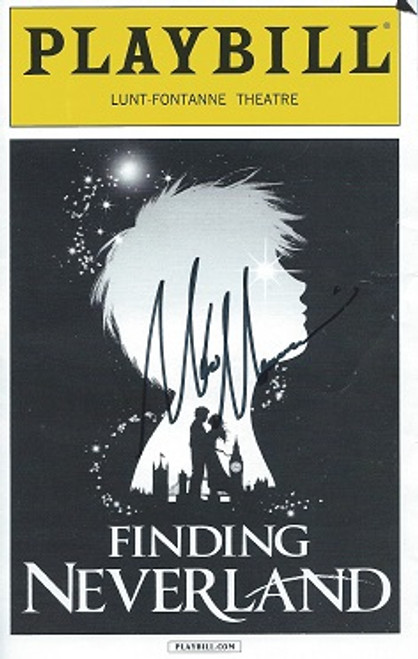 Finding Neverland Playbill signed by Matthew Morrison, Lunt Fontanne Theatre NYC Sept 2015, Matthew Morrison, Anthony Warlow, Laura Michelle Kelly, Carolee Carmello, Teal Wicks, Alex Dreier, Aidan Gemme, Jackson Demott Hill, Noah Hunsdale, Sawyer Nunes, Christopher Paul Richards, Hayden Signoretti
