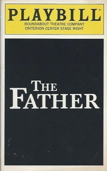 The Father, Playbill Dec 1995, Frank Langella, Tom Beckett, Angela Bettis, Ivar Brogger, Irene Dailey, Garret Dillahunt, William Verderber