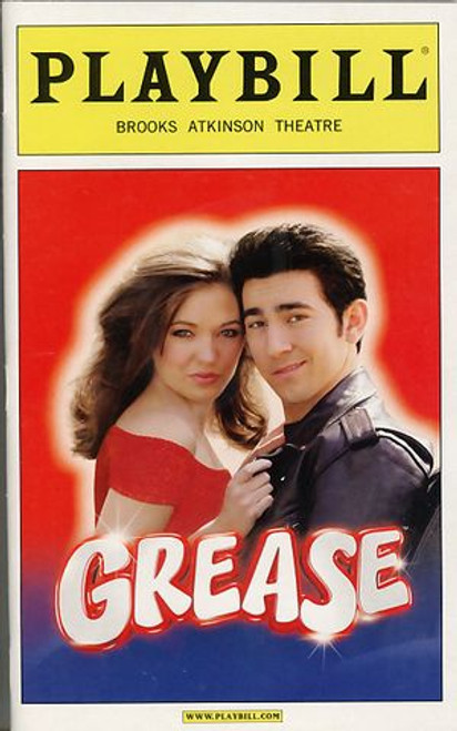 Grease, musical, Broadway 2008,  Max Crumm and Laura Osnes,Ryan Patrick Binder, Jeb Brown, Stephen R Buntrock, grease playbill, grease programs