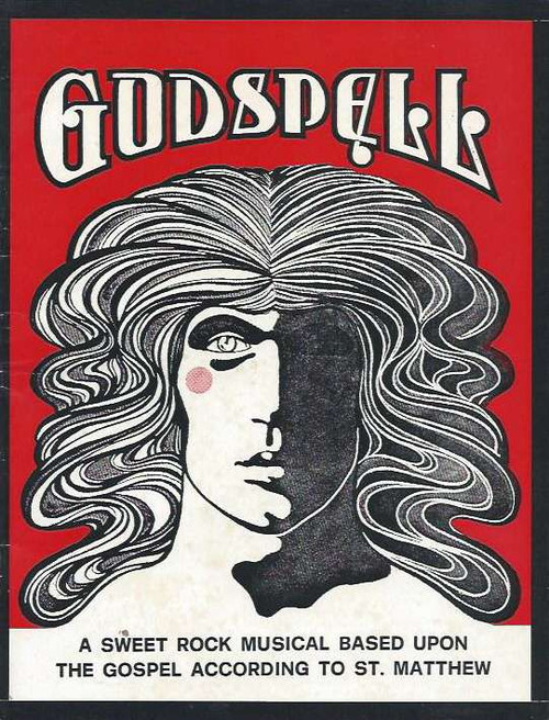 Godspell (Musical), Hilton Bonner, Janet Fosh, Christopher Pate, William Gluth, Sue Hollywood,Jenny Lee, Marty Rhone, Carmen Tanti, Peita Toppano,John Waters, Godspell playbill