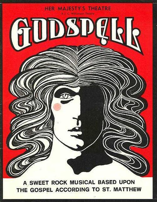 Godspell (Musical) Hilton Bonner, Caroline Gillmer, Paul Bugden, John McTernan - Her Majesty's Theatre Melbourne Australia