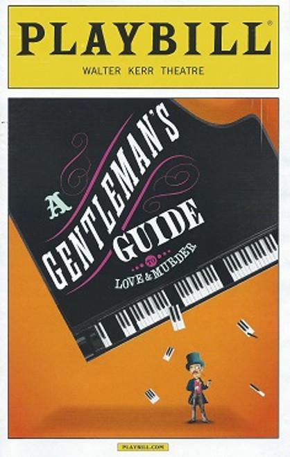 A Gentleman's Guide to Love and Murder, Playbill Sept 2015, Jefferson Mays, Bryce Pinkham, Scarlett Strallen, Catherine Walker, Judy Blazer