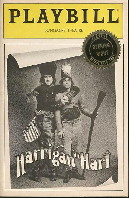 Harrigan 'n Hart (Musical), Mark Hamill, Harry Groener, Christine Ebersole - Opening Hignt, 1985 Longacre Theatre Broadway, Harrigan 'n Hart playbill
