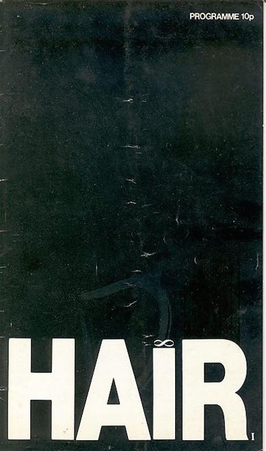 Hair (Musical), Gary Hamilton, Demetrius Christopolus, Glenn Conway,Gary Aflalo Shaftesbury Theatre London, hair London program, hair playbill