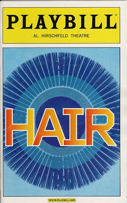Hair - Broadway 2009, Gavin Creel, Will Swenson, Sasha Allen, Allison Case, Caissie Levy, Darius Nichols, Hair playbill, Hair Program