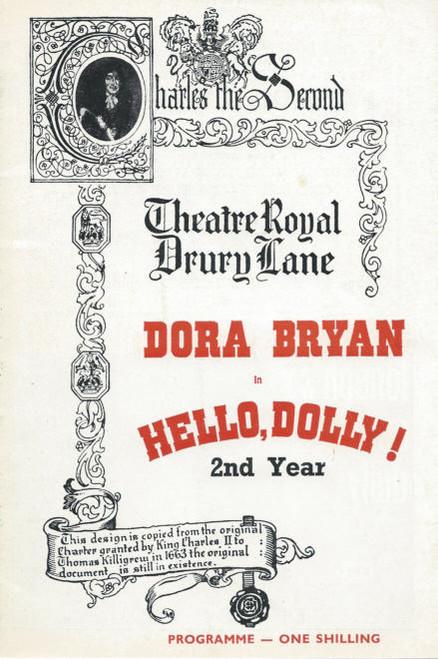 Hello Dolly (Musical) 1968 Dora Bryan, Bernard Spear, Gordon Clyde, Billy Boyle, Sonya Petrie, Souvenir Program / Playbill, Hello Dolly Program