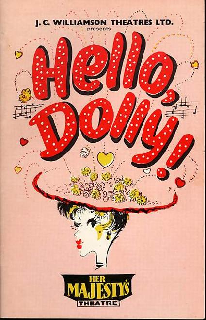 Hello Dolly (Musical), Jill Perryman, Tikki Taylor, Nancye Hayes, Bruce Barry 1965 Austalian Tour Sydney, Hello Dolly Program, Dolly Memorabilia