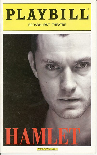Hamlet (play) Oct 2009,  Jude Law Faye Winter, Sean Jackson, Broadhurst Theatre, hamlet playbill