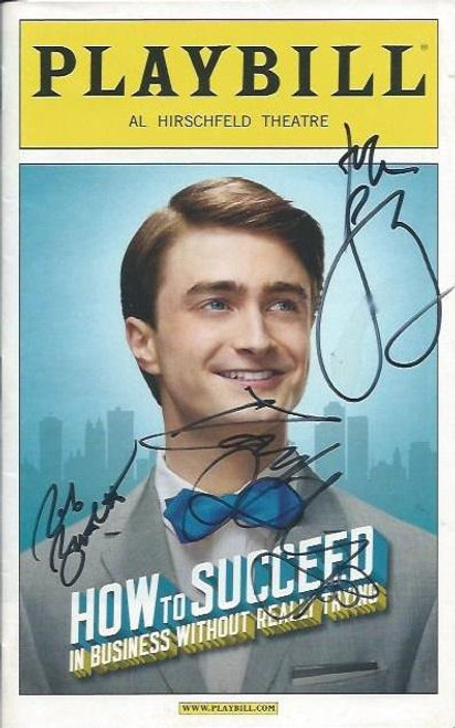 How to Succeed in Business without Really Trying (Sept 2011), Signed by Cast including, Daniel Radcliffe,John Larroquette, Tammy Blanchard