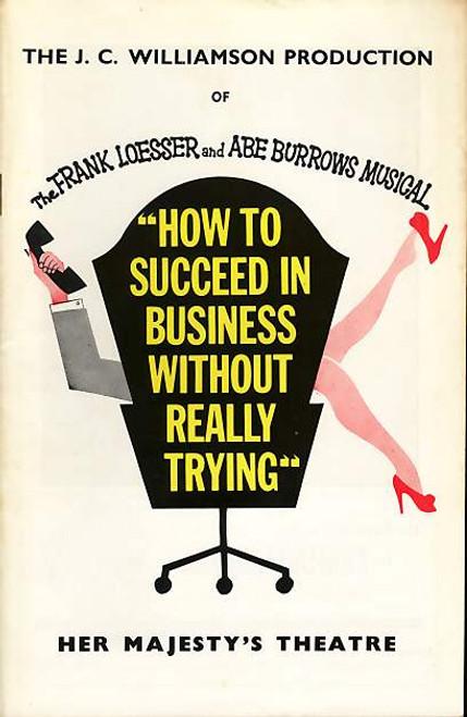 How to Succeed in Business (Musical), Len Gochman, Edwin Steffe, Jay Gerber, Betty McGuire, 1963 Australian Tour Melbourne