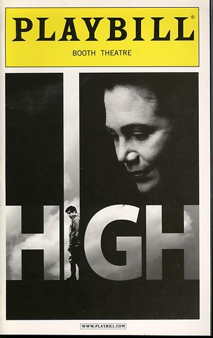 High (Play), Kathleen Turner, Stephen Kunken, Evan Jonigkeit - Opening Night (19 Apr 2011) Booth Theatre Broadway, high playbill, high program