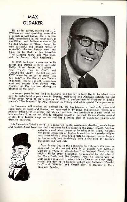 Half a Sixpence (Musical), Mark McManus, John Rickard, Brian Hannan - 1967 Australian Production Comedy Theatre Melbourne