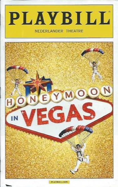Honeymoon in Vegas, by Andrew Bergman, Jason Robert Brown, Playbill Nov 2014 Broadway, Tony Danza, Ron McClure, Brynn O'Mally, David Josefsberg, Nancy Opel, Matthew Saldivar, Sean Allan Krill