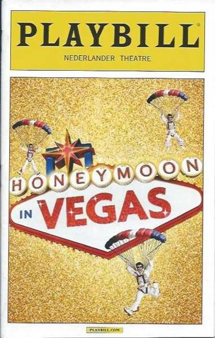 Honeymoon in Vegas, by Andrew Bergman, Jason Robert Brown PlaybillJan 2015 Broadway, Tony Danza, Ron McClure, Brynn O'Mally, David Josefsberg, Nancy Opel, Matthew Saldivar, Sean Allan Krill