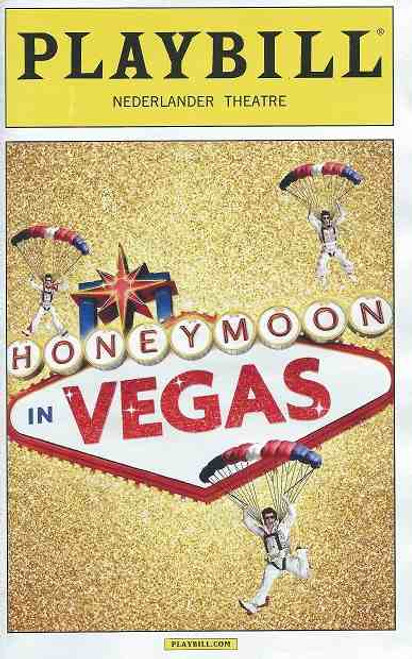 Honeymoon in Vegas, by Andrew Bergman, Jason Robert Brown Playbill Dec 2014 Broadway, Tony Danza, Ron McClure, Brynn O'Mally, David Josefsberg, Nancy Opel, Matthew Saldivar, Sean Allan Krill