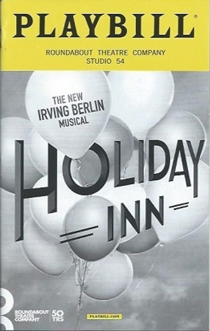 Holiday Inn(Musical) PlaybillOCT 2016, Bryce Pinkham, Corbin Bleu, Lora Lee Gayer, Megan Lawrence, Megan Sikora, Lee Wilkof, Morgan Gao