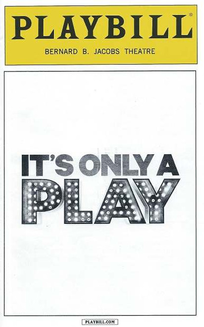 It's Only a Play (Play) by Terrence McNally, PlaybillApril 2015, F. Murray Abraham, Matthew Broderick, Stockard Channing, Katie Finneran, Nathan Lane, T.R Knight, Micah Stock, David Beach,Ben Hollandsworth