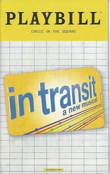 In Transit Dec 2016, David Abeles, Moya Angela, Steven Heaven Cantor, Justin Guarini, in transit playbill, broadway memorabilia
