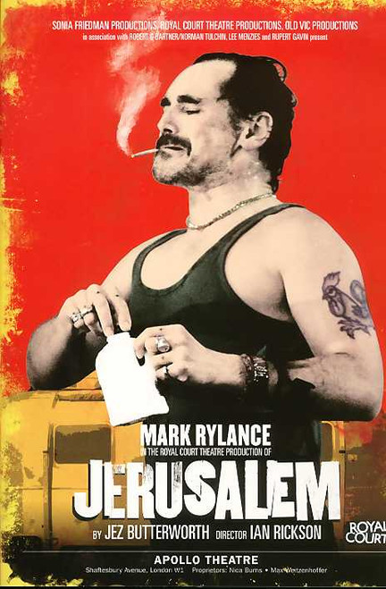 Jerusalem (Play), Mark Rylance, Aimee-FFion Edwards, Sarah Moyle - From the Return Season at the Apollo Theatre London, Jerusalem  playbill, Jerusalem  program