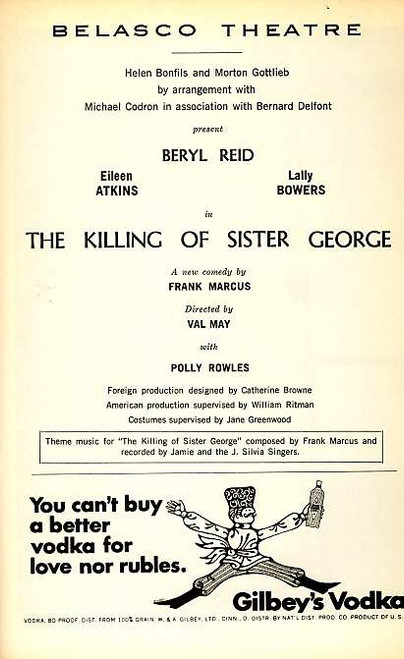 The Killing of Sister George (Play), Beryl Reid, Eileen Atkins, Lally Bowers, Polly Rowles 1967 Broadway Production