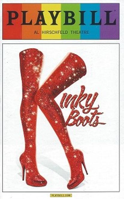 Kinky Boots Playbill, June 2014 Pride Edition, Pride Playbills, Andy Kelso ,Billy Porter,Jeanna de Waal, Cortney Wolfson,Daniel Stewart Sherman, Marcus Neville