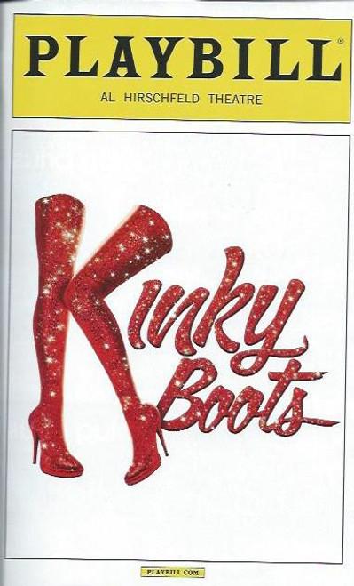 Kinky Boots (Musical), Cyndi Lauper, Harvey Fierstein, OBC Playbill, Sept 2013 Stark Sands, Billy Porter, Annaleigh Ashford, Lena Hall, Daniel Stewart Sherman, Marcus Neville
