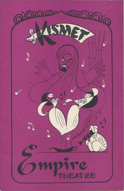 KisMet (Musical), Hayes Gordon, Morgab St John, John Young, Empire Theatre Sydney 1956 Playbill / Program