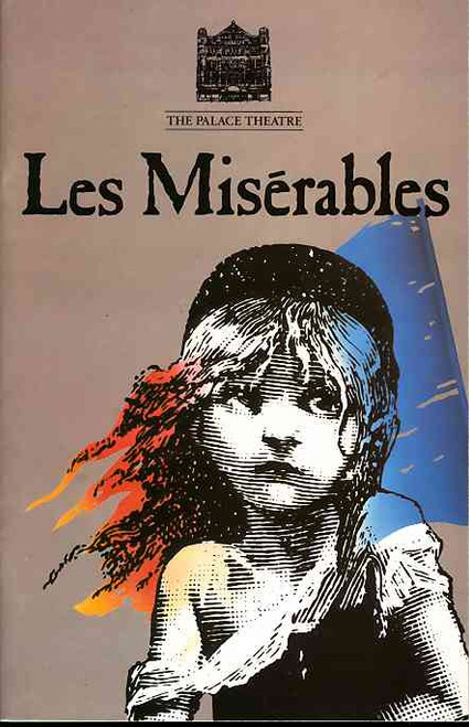Les Miserables (Musical), Peter Karrie, Don Gallagher, Julian Forsyth, Wendy Pollock 1987 Season at the Palace Theatre London, Les Miserables program