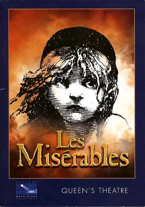 Les Miserables Musical, David Shannon, Earl Carpenter, Gavin James, Richard Woodford 2005, Queens Theatre London UK