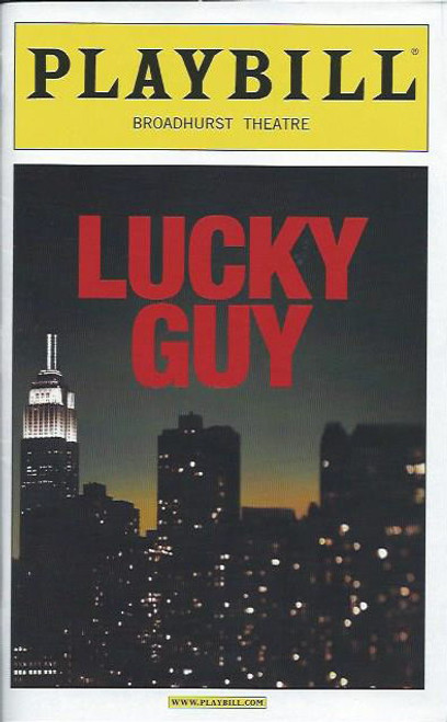 Lucky Guy By Nora Ephron, Tom Hanks Playbill Apr 2013, Broadway, Lucky Guy playbill, Tom Hanks Playbill
