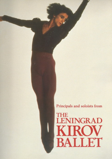 The Leningrad Kirov Ballet (Dance) Oleg Vinogradov, Souvenir Brochure 1989 Artistic Director & Chief Choreographer Oleg Vinogradov