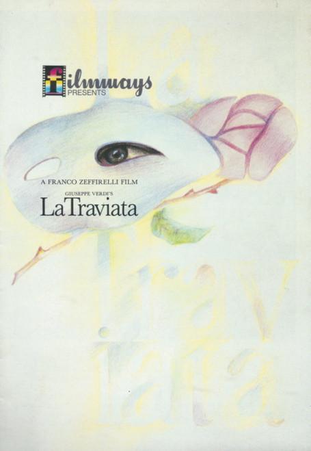La Traviata (Opera Film) Teresa Stratas, Placido Domingo, Cornell McNeil Souvenir Brochure - A Franco Zeffirelli Film