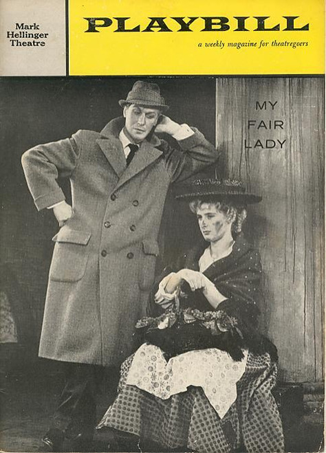 My Fair Lady 1959 (Musical), Edward Mulhare Pamela Charles, Ronald Radd, Reginald Denny, Mark Hellinger Theatre, broadway, my fair lady playbill