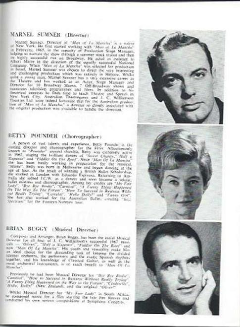 Man of La Mancha (Musical), Charles West, Suzanne Steele, Robert Healey  Brisbane Her Majesty's Theatre 1968
