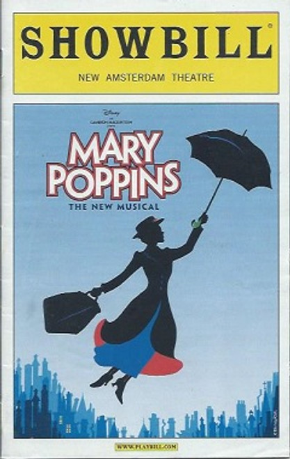 Mary Poppins (March 2009) Playbill/Showbill, Scarlett Strallen, Adam Fiorentino, Daniel Jenkins, Rebecca Luker– New Amsterdam Theatre