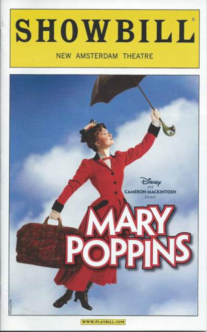 Mary Poppins (Sept 2012) Playbill, Steffanie Leigh, Gavin Lee, Karl Kenzler, Megan Osterhaus- New Amsterdam Theatre
