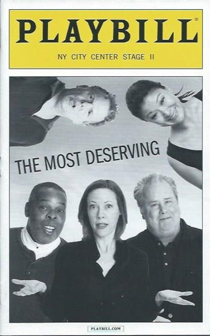 The Most Deserving, Catherine Trieschmann, Stage II at City Center, PlaybillMarch 2014 Off Broadway, Veanne Cox , Kristin Griffith, Adam LeFevre, Jennifer Lim, Daniel Pearce & Ray Anthony Thomas