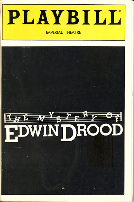 The Mystery of Edwin Drood by Rupert Holmes (Sept 1986), Loretta Swit, Howard McGillin, Imperial Theatre