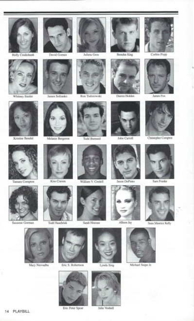 Movin' Out (Musical) Brendan King, Holly Cruikshank, David Gomez, Broadway in Arizonao Playbill / Program Sept 2005 USA Tour