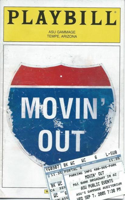 Movin' Out (Musical) Brendan King, Holly Cruikshank, David Gomez, Broadway in Arizonao Playbill / Program Sept 2005 USA Tour