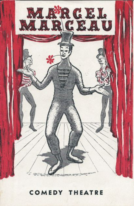 Marcel Marceau - (Mime) acclaimed French actor and mime - 1963 Australian Tour Comedy theatre Melbourne