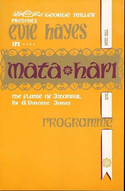 Mata Hari (Musical), Kurt Ludescher, Bill Bennett, Evie Hayes, Gheda Pusey, Rex Calder - 1963 Australian Production Bowl Music Hall