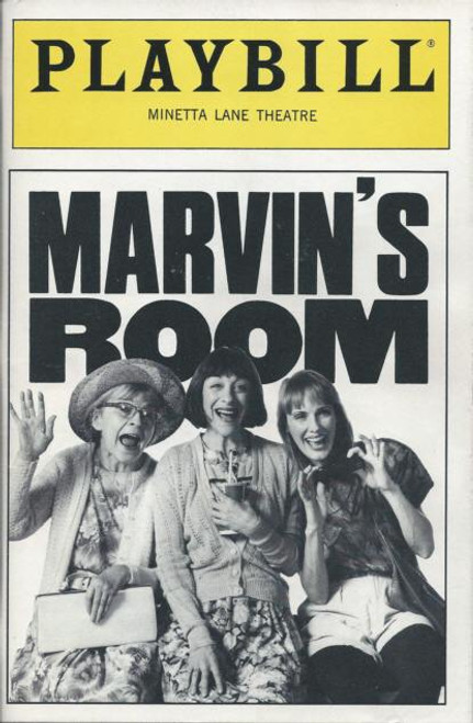 Marvin's Room, playby Scott McPherson - Laura Esterman,Lisa Emery,Alice Drummond, Marvins Room Playbill, Marvin's Room Memorabilia