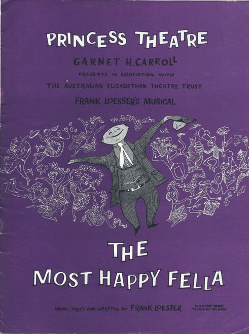 The Most Happy Fella (Musical), Inia Wiata,Barbara Leigh,Stella Moray,Myron Natwick,Ronal Jackson, 1961 Australian Production Souvenir Brochure