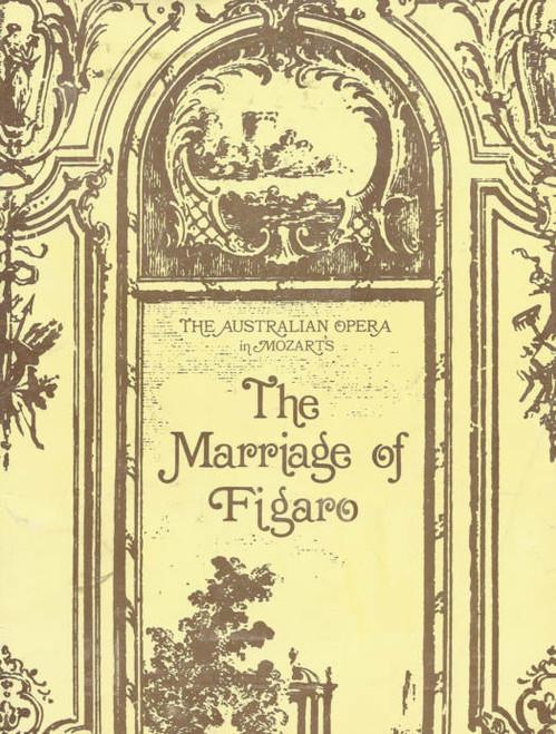 The Marriage of Figaro(Opera) Australian Opera Company Souvenir Program 1972, Ronald Maconaghie, Glenys Fowles, Cynthia Johnston, Neil Warren-Smith, Rosina Raisbeck, Jennifer Bermingham, John Pringle, Robert Gard