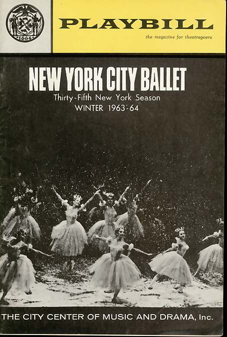 New York City Ballet (Dance), Erik Bruhn, Jacques d'Amboise, Melissa Hayden - New York City Ballet Winter Season 1963-64