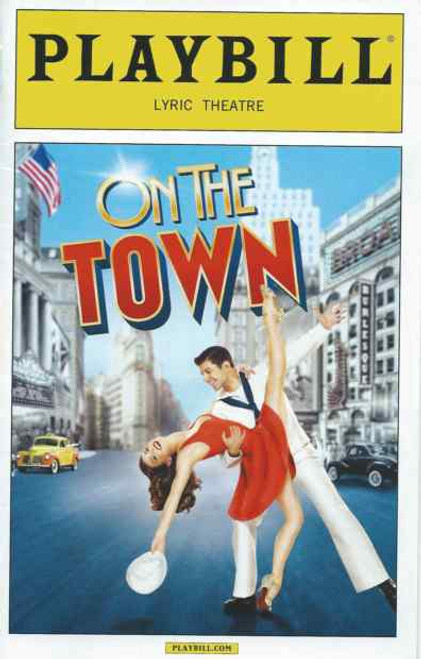 On the Town Playbill September 2014, Tony Yazbeck,  Jay Armstrong Johnson,  Clyde Alves, Megan Fairchild, Alysha Umphress, Elizabeth Stanley