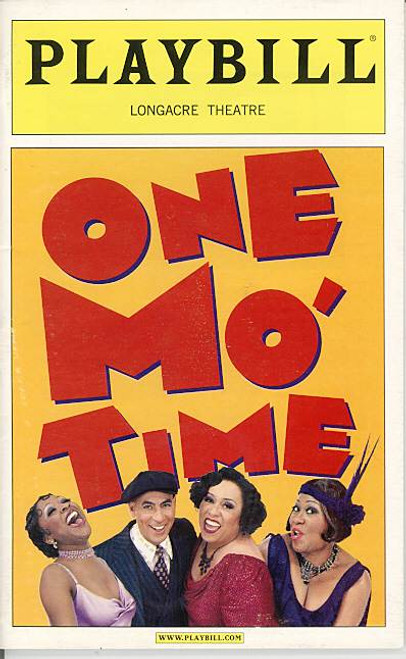 One Mo Time (Musical), Longacre Theatre, Vernel Bagneris, B j Crosby, Roz Ryan, Rosalind, Wally Dunn, one mo time playbill
