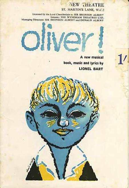 Oliver (Musical), John Bluthal, Georgia, Paul Whitsun-Jones, Hope Jackman - Original 1960 West End London